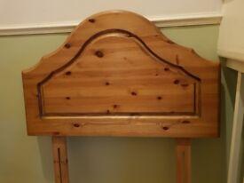Wooden head board single bed.
