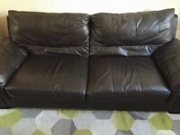 DFS Mocha Brown 3 seater Sofa