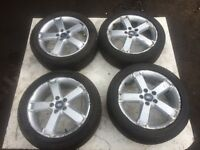 FORD FOCUS, 2006, SET OF ALLOY WHEELS AND TYRES, 5 STUD, FOR SALE