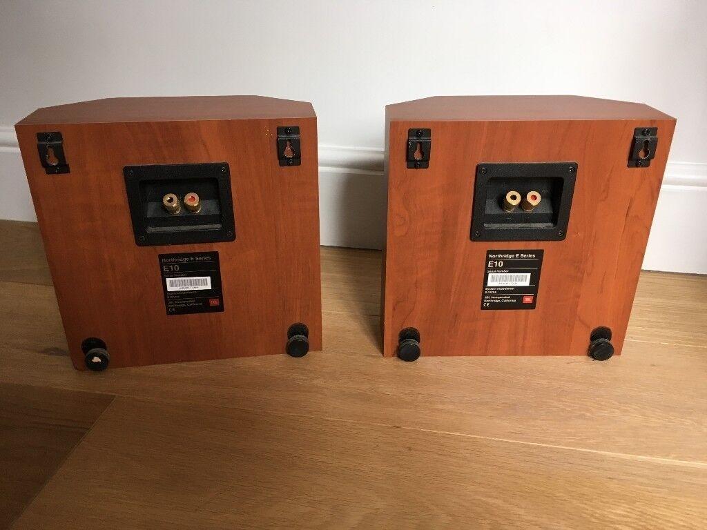 59b2e7b6948 JBL Northridge E10 2-Way 4-Inch Bookshelf Speakers, Pair (Cherry ...