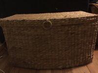 Large Wicker basket box storage RRP £60