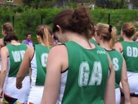 Ladies Netball - competitive, intermediate and recreational