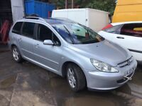 Peugeot 307 sw silver breaking for parts