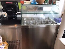 Inomak-ZQV99-2-Door-Saladette-Counter-Fridge £900
