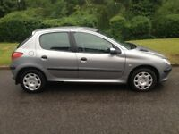 PEUGEOT 206 1.4 9 MONTHS MOT CHEAP CAR TO TAX AND INSURE AIR CON CD PLAYER POWER STEERING