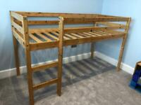 Pine Mid Sleeper Shorty Cabin Bed Frame (and mattress if required)