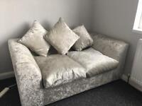 New crushed velvet sofas