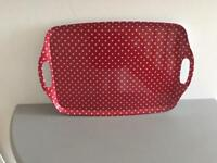 Brand New Red Polka Dot Tray