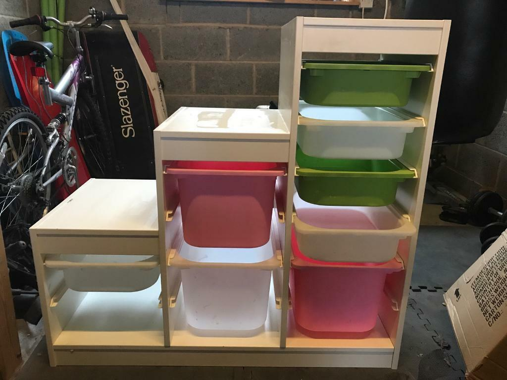 Ikea White Trofast Storage System With Bo