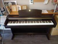 YAMAHA CLAVINOVA CLP-120 DIGITAL PIANO, FULLY WEIGHTED KEYS AND 3 PEDALS