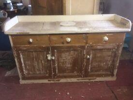 Partially Stripped Antique Pine Dresser