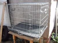 DOG CAGE TOP QUALITY GALVANIZED SIZE 30 X 20 X 23 HIGH FOLDS FLAT