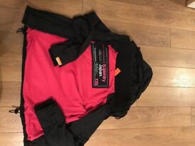 Black/pink superdry jacket size xxs