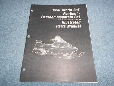 1990 ARCTIC CAT PANTHER MOUNTAIN CAT SNOWMOBILE PARTS BOOK ILLUSTRATED MANUAL