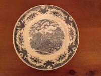 """W.H. Grindley, Staffordshire English Creamware Platter - Scenes After Constable - """"The Glebe Farm"""""""