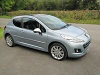 SUPERB 2012 PEUGEOT 207 ALLURE, LOW MILES, FSH, 50MPG, NEW MOT, LEATHER , PANORAMIC ROOF, PX TAKEN