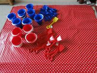 Childrens plastic buckets and spade sets
