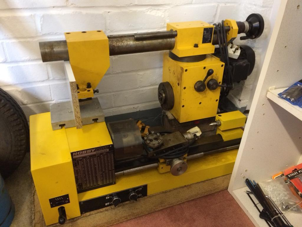 Hobbymat Universal Lathe And Pedestal Drill In High