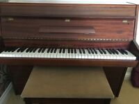 ZENDER small (6 octave) piano and stool -Immaculate Condition