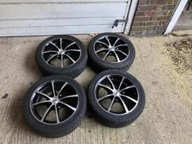"X4 15"" TSW alloy wheels With brand-new tires"