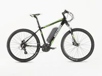 GREENWAY ELECTRIC mountain bike, PANASONIC cell lithium battery LCD, PAS system £870
