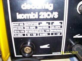 Decamig kombi 210/s, Mig AND stick welder