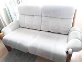 Rare Vintage 1980 Ekornes Montana 2 Seater Sofa Material