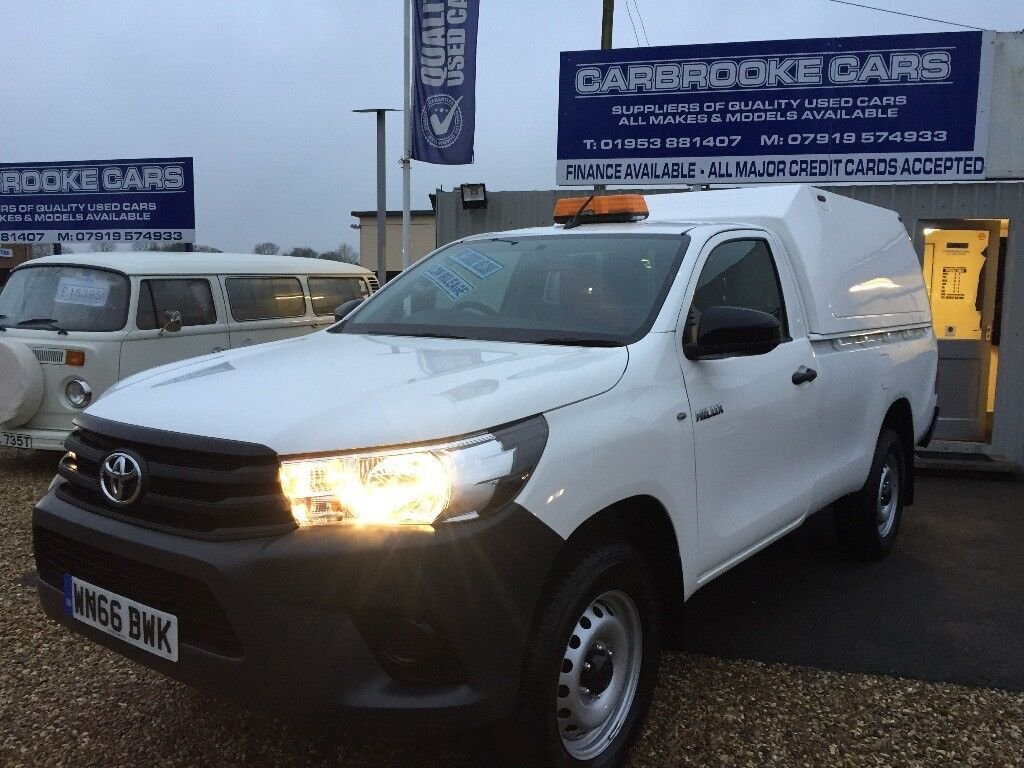 2016 66 TOYOTA HILUX ACTIVE 2.4 D4D - SINGLE CAB - 2902 MILES - ONE OWNER - AS NEW - STUNNING ...