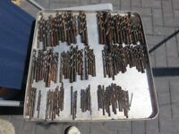 Metal drills, large lot of mixed sizes, too many to list 135 plus 1mm up to about 20mm.