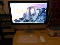 "Apple iMac 21.5"",intel core 2 duo 3.06 GHz,9 GB DDR3,500GB HDD,wireless keyboard+mouse,os X 10.10.5'"