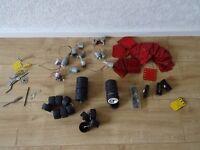 vintage meccano - 111 part No 190 - 13 motors - 20 wheels , nuts bolts and more