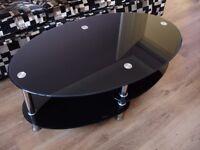 Cara Black Glass Coffee Table