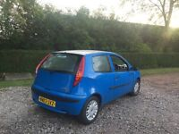 Fiat Punto 1.2 active 03 reg power steering timing belt replaced mot may 2017 low insurance 48+ mpg