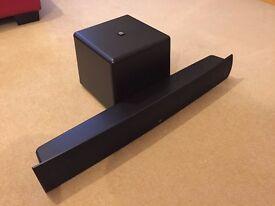 Boston Acoustics TVee Model 25 Soundbar & wireless powered Subwoofer