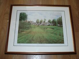 Limited Edition Golf Print of Edzell Golf Club signed by Jamie Donaldson