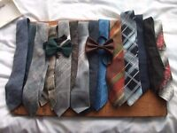 COLLECTION OF TIES AND BOW TIES