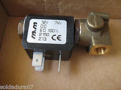 ELECTRO VALVULA Bobina 12v 7w DC Gas Soldador Soldadura TIG MIG -...