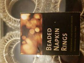 Beaded Napkin Holders x 8 for £14