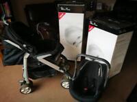 Silver Cross Bundle - 3D Travel System Pram/Pushchair/Car Seat