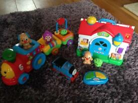 Bundle of Fisher Price toys + remote control Thomas the Tank Engine