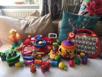 Bundle Of Baby Toys Fisher Price Cookie Jar, Toy Car Fashboard, Vtech etc Nw6/Gunnesbury