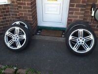 "18"" VW Golf R alloys with good tyres"