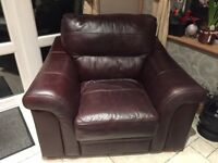 Brown Leather 3+1 sitting room suite