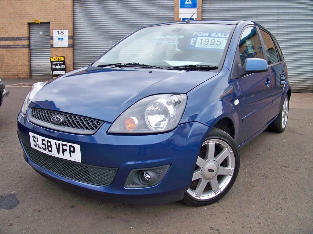 2008 58 ford fiesta zetec blue edition 5 door in. Black Bedroom Furniture Sets. Home Design Ideas