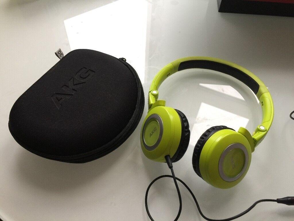 9.9 New AKG 430 Wired Foldable Headphone - Green