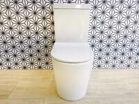 Modern Close Couple Toilet with Ultra Slim Soft Close Seat- Delta