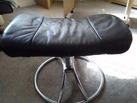 Leather footstool black £10