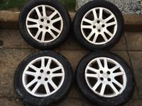 Honda Civic 4x100 Alloy Wheels and Tyres ideal for civic jazz Toyota Yaris Mitsubishi colt vw polo