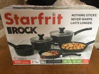 Starfrit saucepan set. Brand new. Box unopened