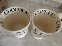 EMMA BRIDGEWATER EXTRA LARGE MUGS TEA COFFEE CHOCOLATE SPECIAL 21 YEARS EDITION